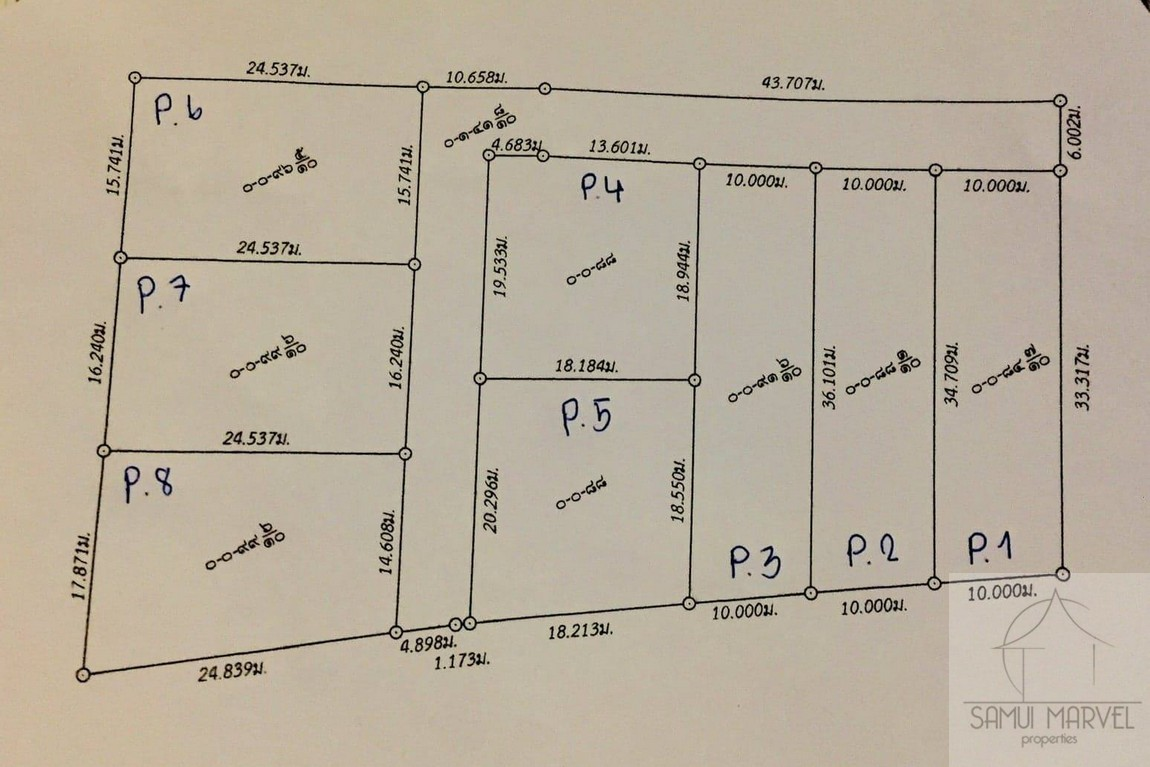 Boundary survey and proposed land subdivision